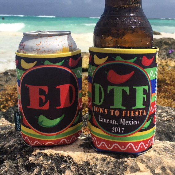 Beach Vacation Koozies or coolies - Mexico Koozies - DTF Down to Fiesta