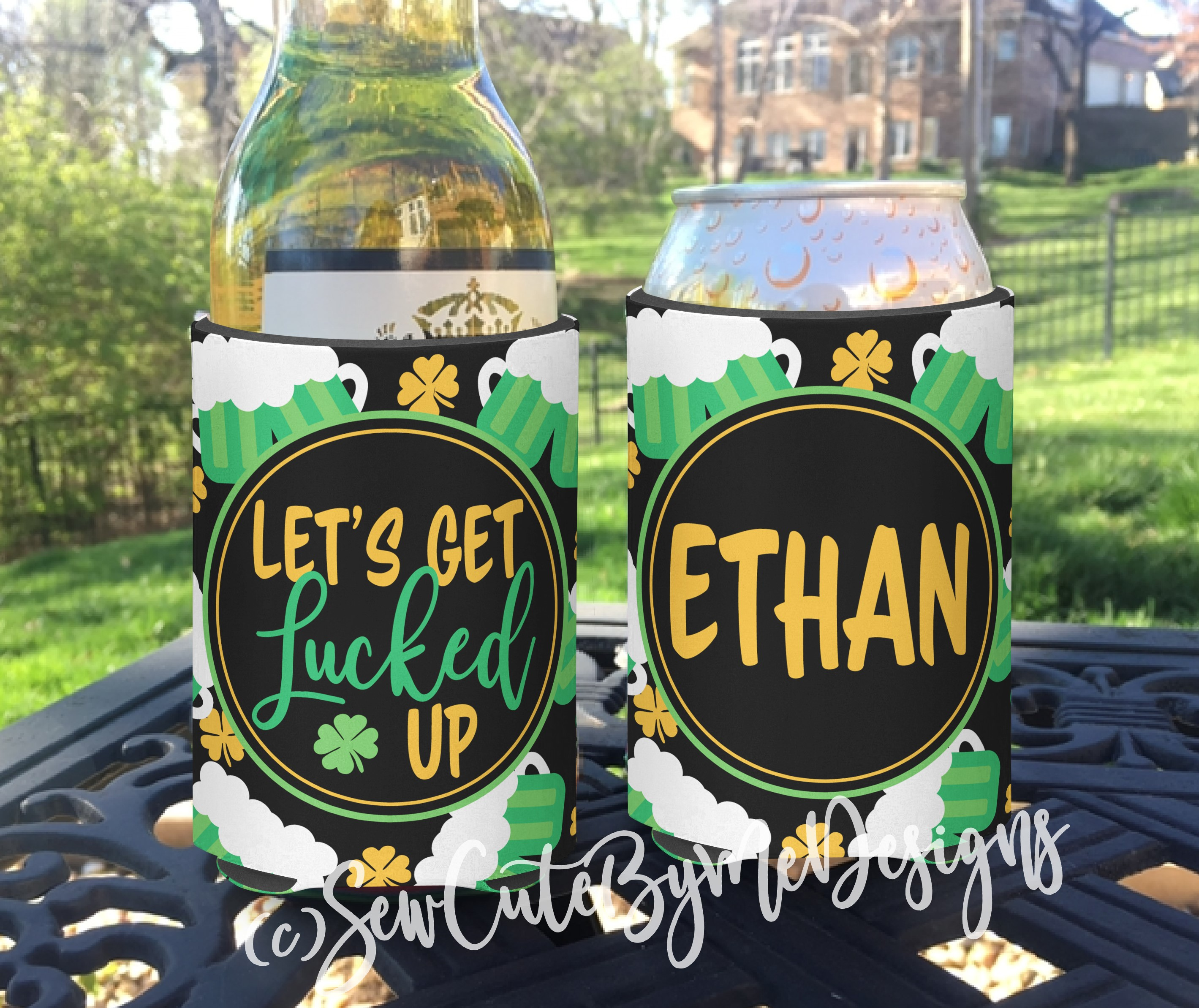 St. Patrick's Day Koozies or coolies - Lucked Up