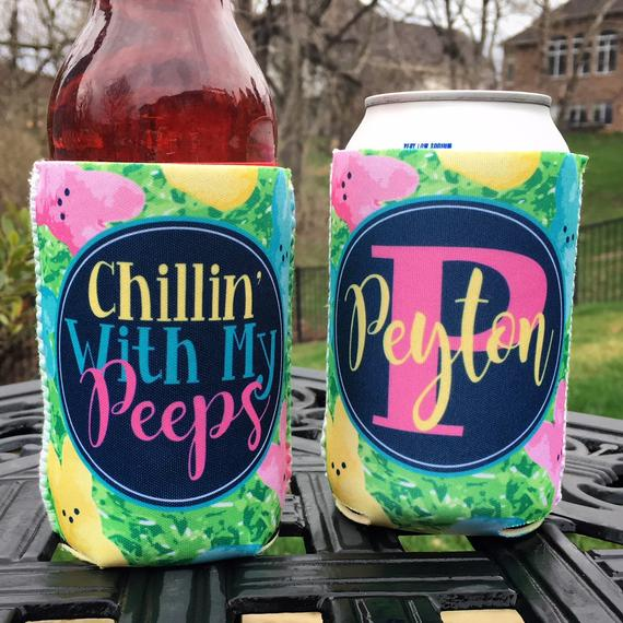 Easter Koozies or coolies - Chillin with My Peeps