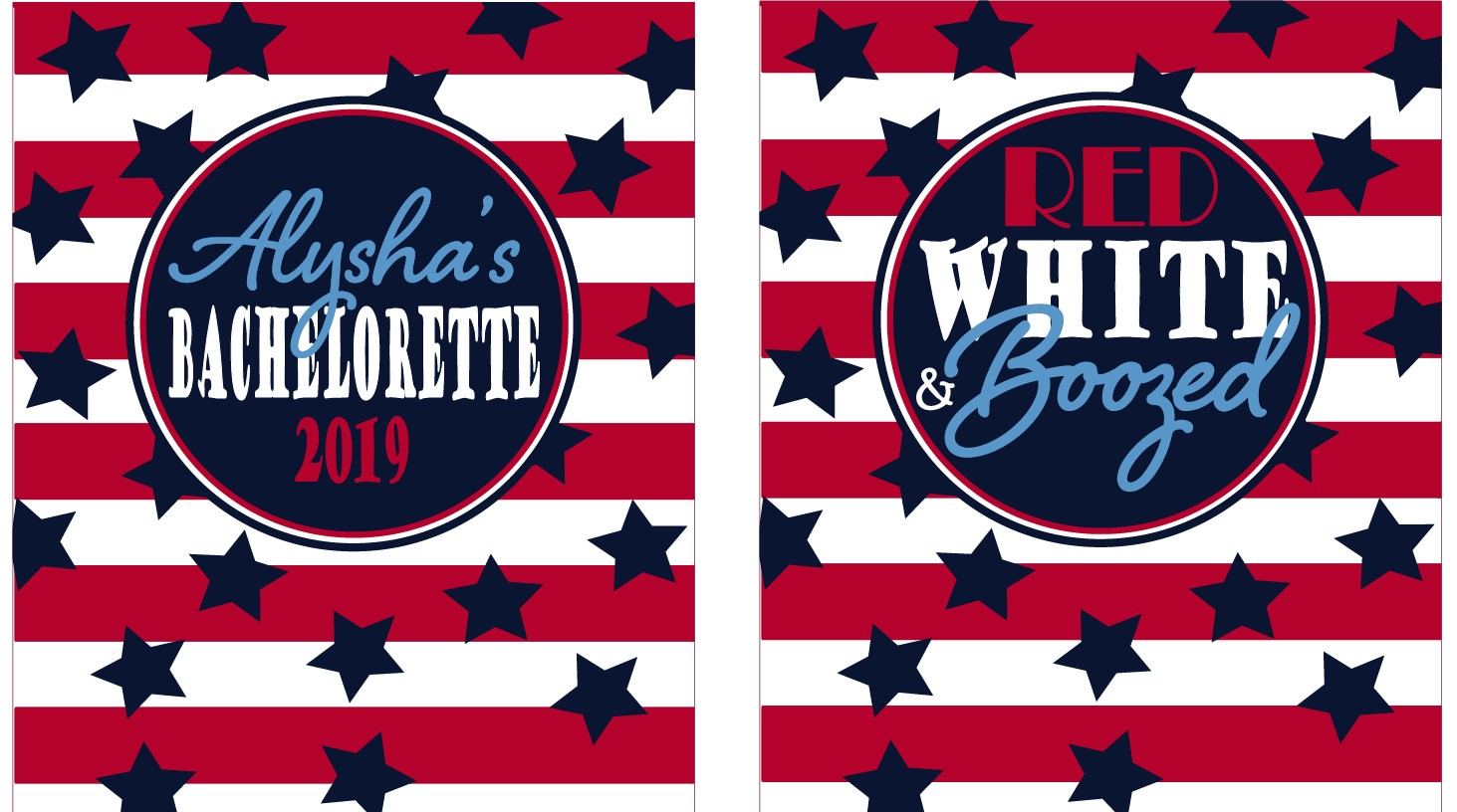 Custom Fourth Of July KOOZIES ® - Red White and Boozed - Personalized Can/Bottle Coolers - 4th of July - Patriotic Koozies