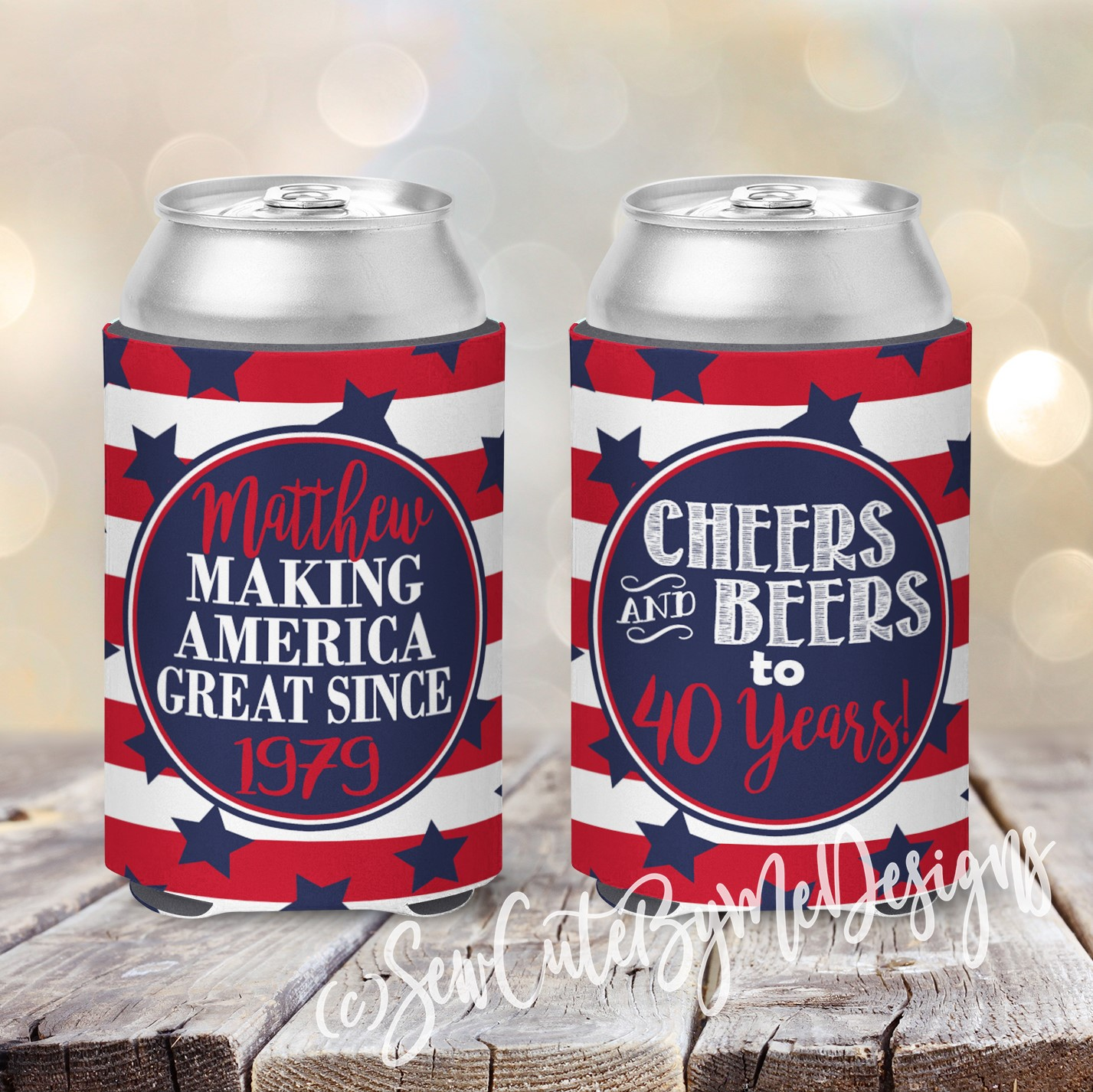 Making American Great Since ? Birthday Koozies - Cheers and Beers