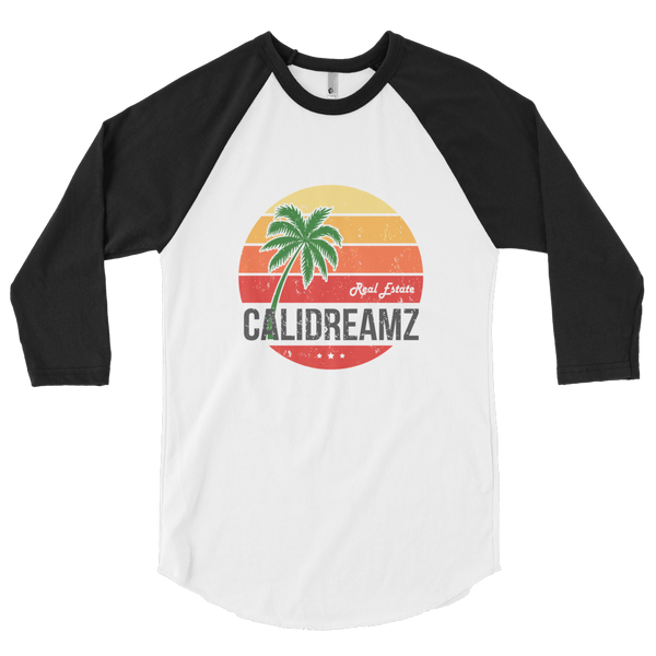 Cali Dreamz 3/4 sleeve raglan shirt
