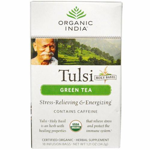 Organic India Green Tulsi Tea Organic 18 bags