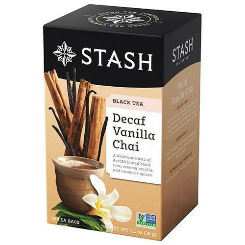 Stash Tea Decaf Vanilla Chai Black Tea 18 Bags