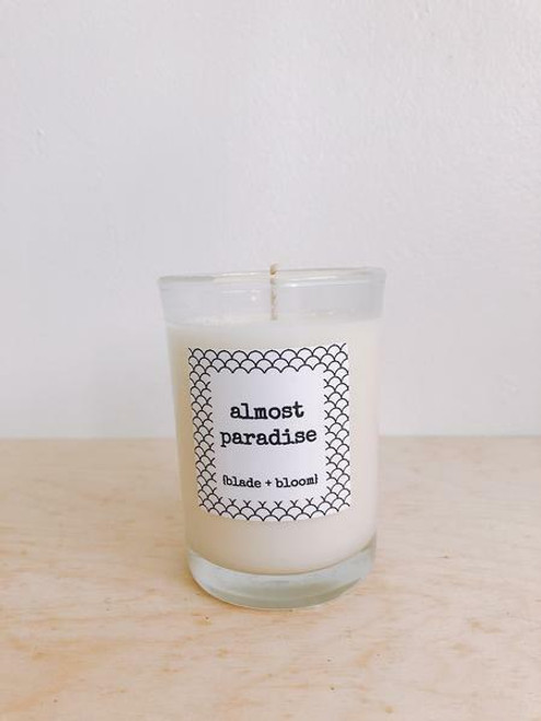 Blade Bloom Soy Candle- Almost Paradise, 6.7oz