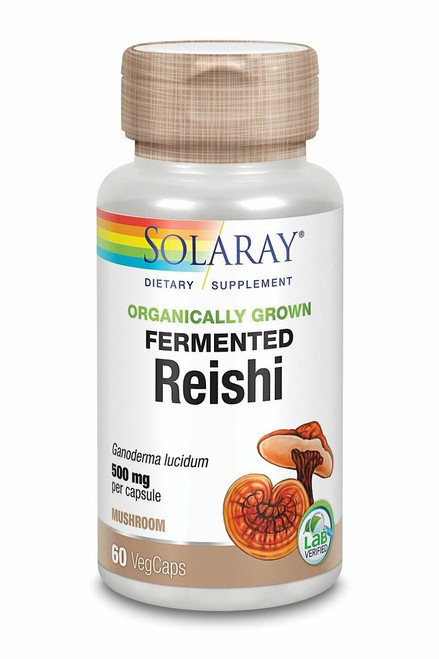 Solaray Fermented Reishi Mushroom 60ct 500mg Organically Grown