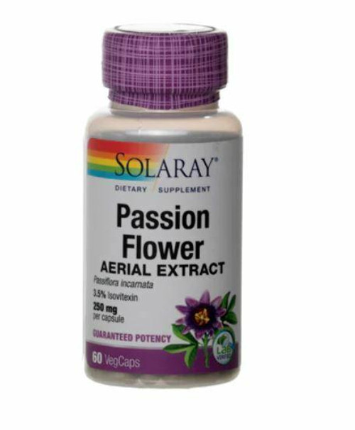 Solaray Passion Flower Aerial Ext 250mg 60caps