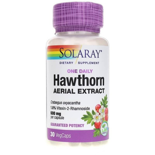 Solaray Hawthorn Aerial Extract, One Daily 30ct 600mg