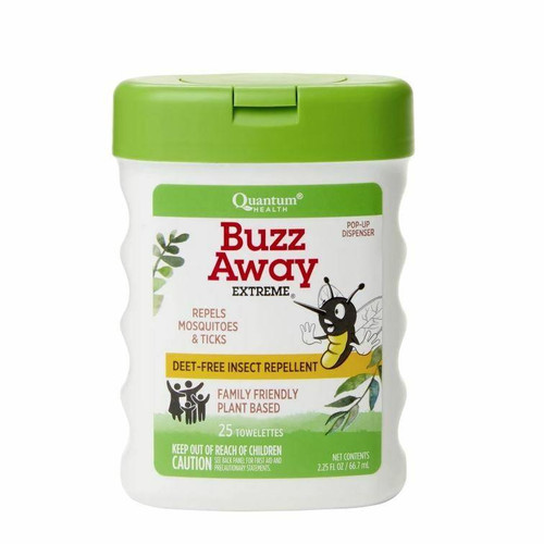 QUANTUM Buzz Away Extreme Towelettes 25/box