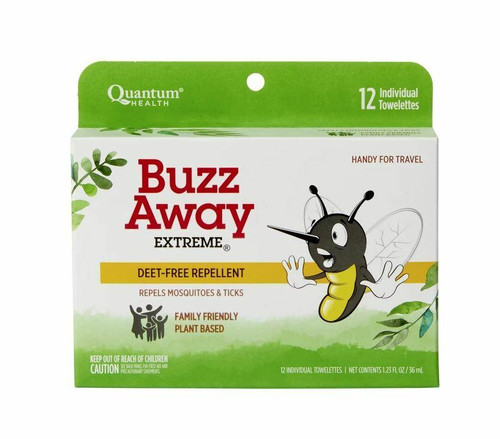 QUANTUM Buzz Away Extreme Towels 12ct Individually Wrapped