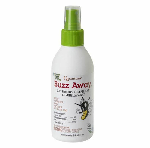 QUANTUM Buzz Away 6oz Deet-Free Insect Repellent Spray