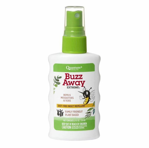 QUANTUM Buzz Away Extreme Spray 2 oz Repels Mosquitos and Ticks, Deet-Free