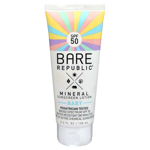 Bare Republic Baby Mineral Sunscreen Lotion SPF 50 3.4oz