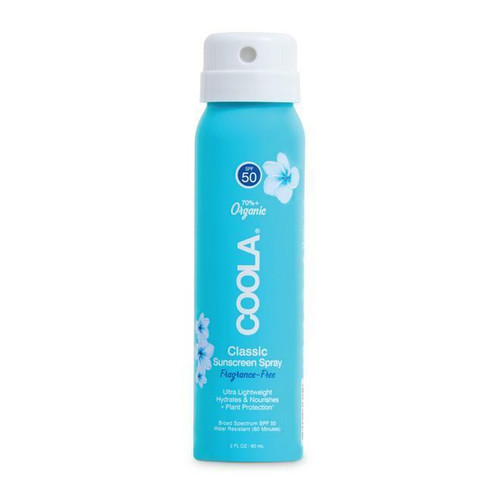Coola SPF50 Classic Sunscreen Spray Sport Unscented 2oz