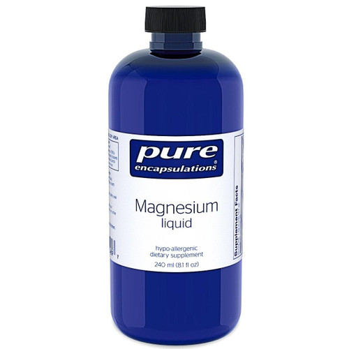 Pure Encapsulations Magnesium Liquid With B vitamins 8.1oz 240ml