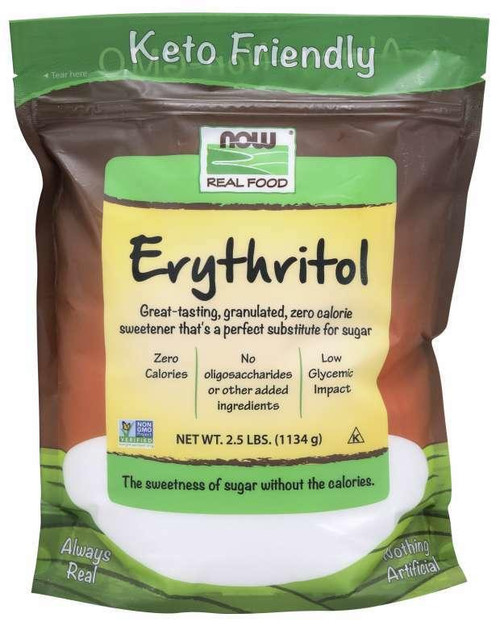 NOW Erythritol 2.5lbs, NOW