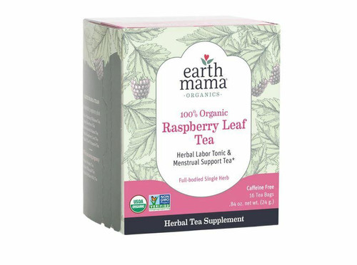 Earth Mama Raspberry Leaf Tea 100percent Organic 16ct Earth Mama