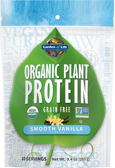 Garden Of Life Organic Plant Protein Smooth Vanilla, Grain Free 10 servings 9.4oz