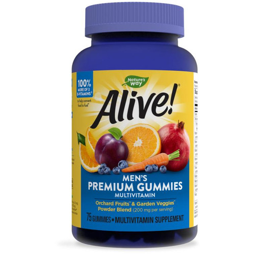 Natures Way Alive Mens Gummy Vitamins 75ct