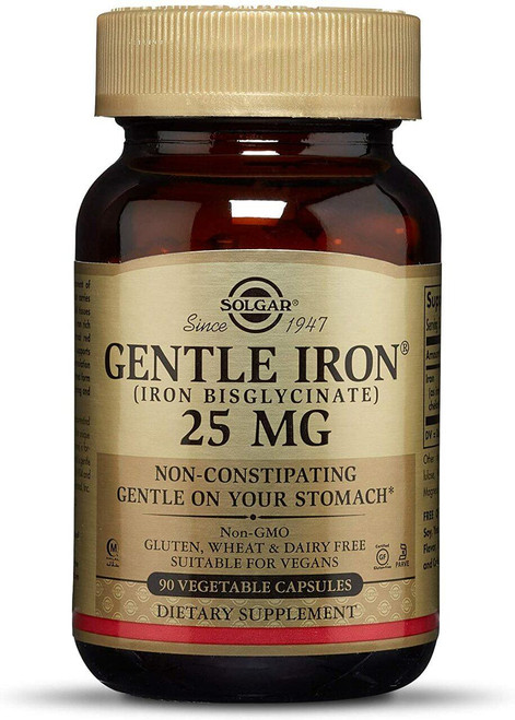 Solgar Gentle Iron 25mg, 90ct