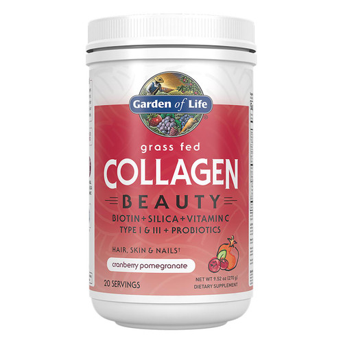 Garden Of Life Grass Fed Collagen Beauty Cran-Pomegranate 270g Powder