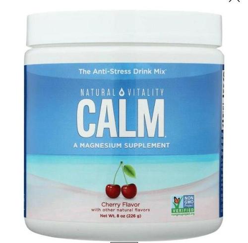 Natural Vitality Calm Magnesium Glycinate Drink Cherry 8oz