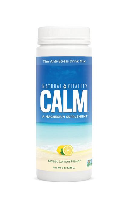 Natural Vitality Calm magnesium Glycinate Drink Sweet Lemon 8oz