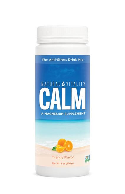 Natural Vitality Calm Magnesium Glycinate Orange Drink 8oz