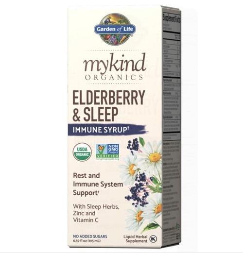 Garden Of Life Elderberry and Sleep Immune Syrup,6.59oz mykind Organics