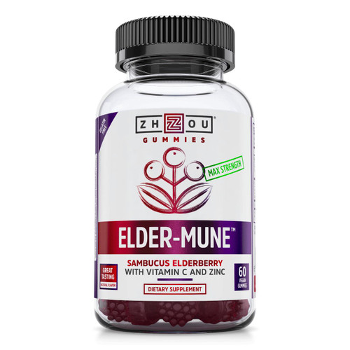 Zhou Nutrition Elder-Mune Elderberry Gummies 60ct 125mg