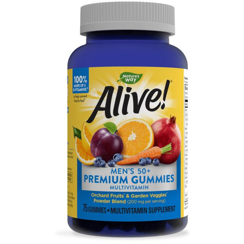 Natures Way Alive Mens 50 Gummy Vitamins 75ct
