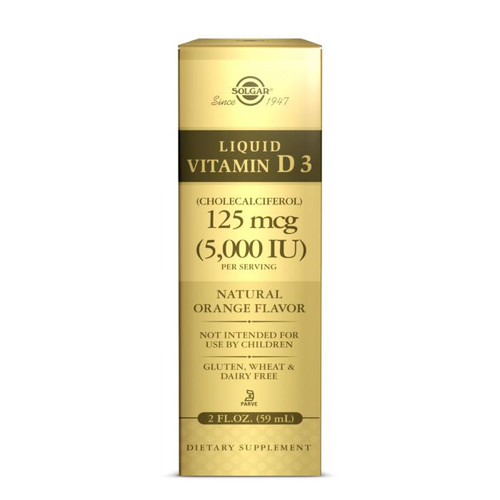 Solgar Liquid Vit D3 125mcg 5,000IU Orange Flavor