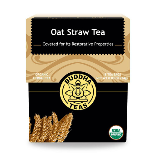 Buddha Teas Oat Straw Tea, 18 Bags, Organic