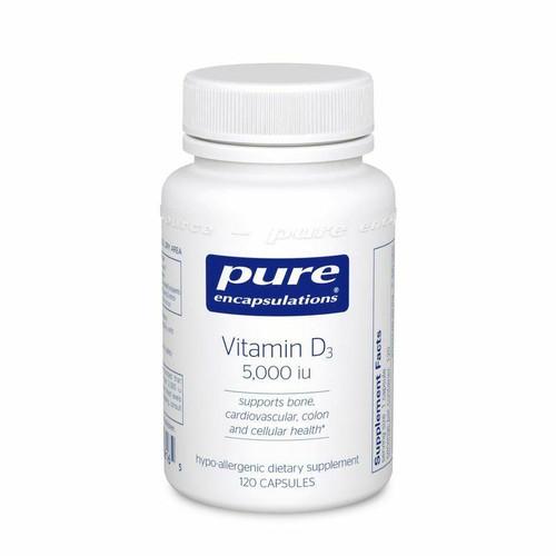 Pure Encapsulations Vitamin D3 125mcg 5,000 IU 120 cps