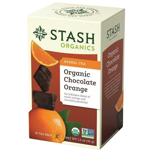 Stash Tea Organic Chocolate Orange Herbal Tea, 18 Bags