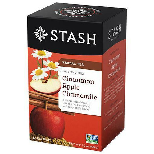 Stash Tea Cinnamon Apple Chamomile Herbal Tea, 20 Bags