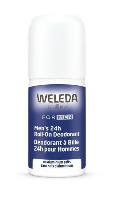 Weleda Mens 24h Roll-On Deodorant, 1.7 fl oz