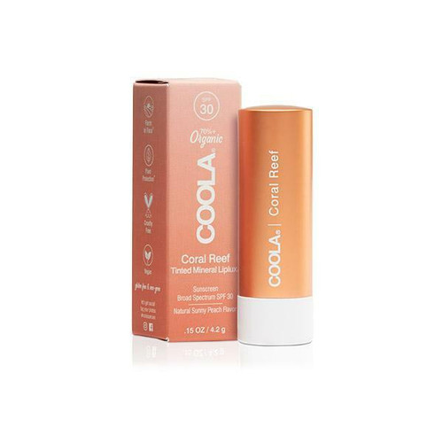 Coola SPF30 Mineral Liplux Lip Balm - Coral Reef