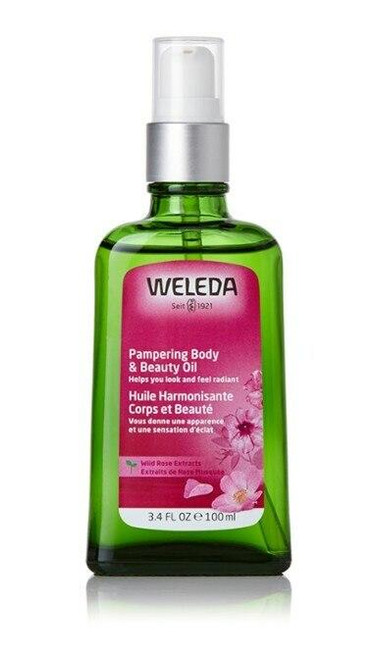 Weleda Pampering Body and Beauty Oil With Wild Rose 3.4oz