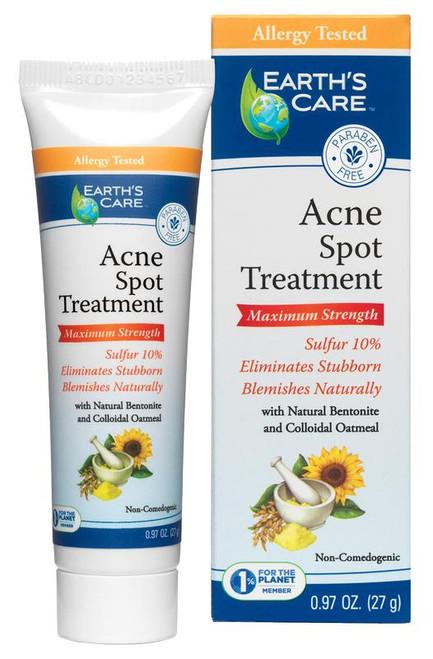 Earths Care Acne Spot Treatment 10percent Sulfur 0.97 oz