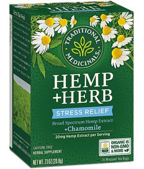 Traditional Medicinals Hemp Herb Stress Relief Tea