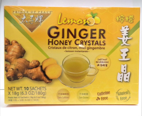 Prince Of Peace Ginger Honey Crystals Lemon, 10 bags