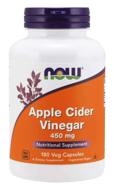 NOW Apple Cider Vinegar 450mg 180ct