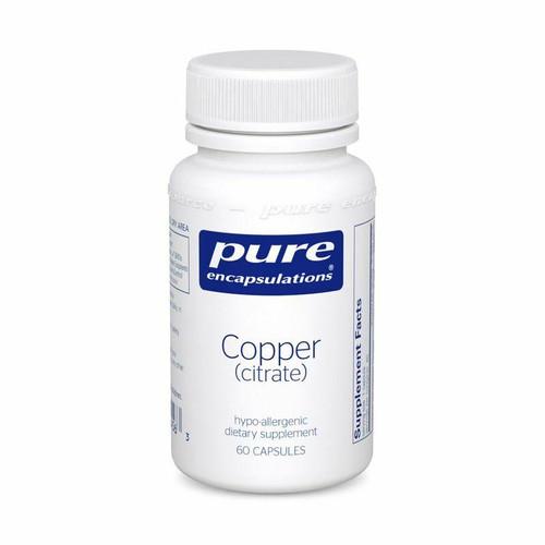 Pure Encapsulations Copper citrate 60s