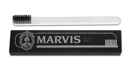 Marvis Toothbrush Soft Bristle Nylon, White