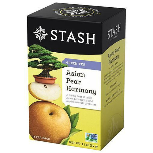 Stash Tea Asian Pear Harmony Green Tea, 18 Bags