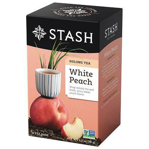 Stash Tea White Peach Oolong Tea, 18 Bags