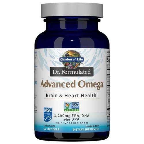 Garden Of Life Advanced Omega, Citrus Flavor, 60 Softgels
