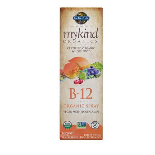 Garden Of Life B-12, Organic Spray, Raspberry Flavor, 2 fl oz