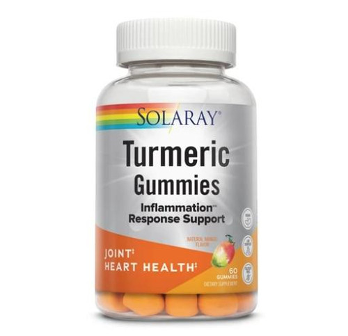Solaray Turmeric and Ginger Gummies, 60ct Mango